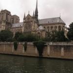 Parīzes Dievmātes katedrāle no Sēnas puses