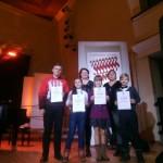 Starptautiskā Jauno dziedātāju konkursa Sudraba zvani laureāti un viņu skolotāji